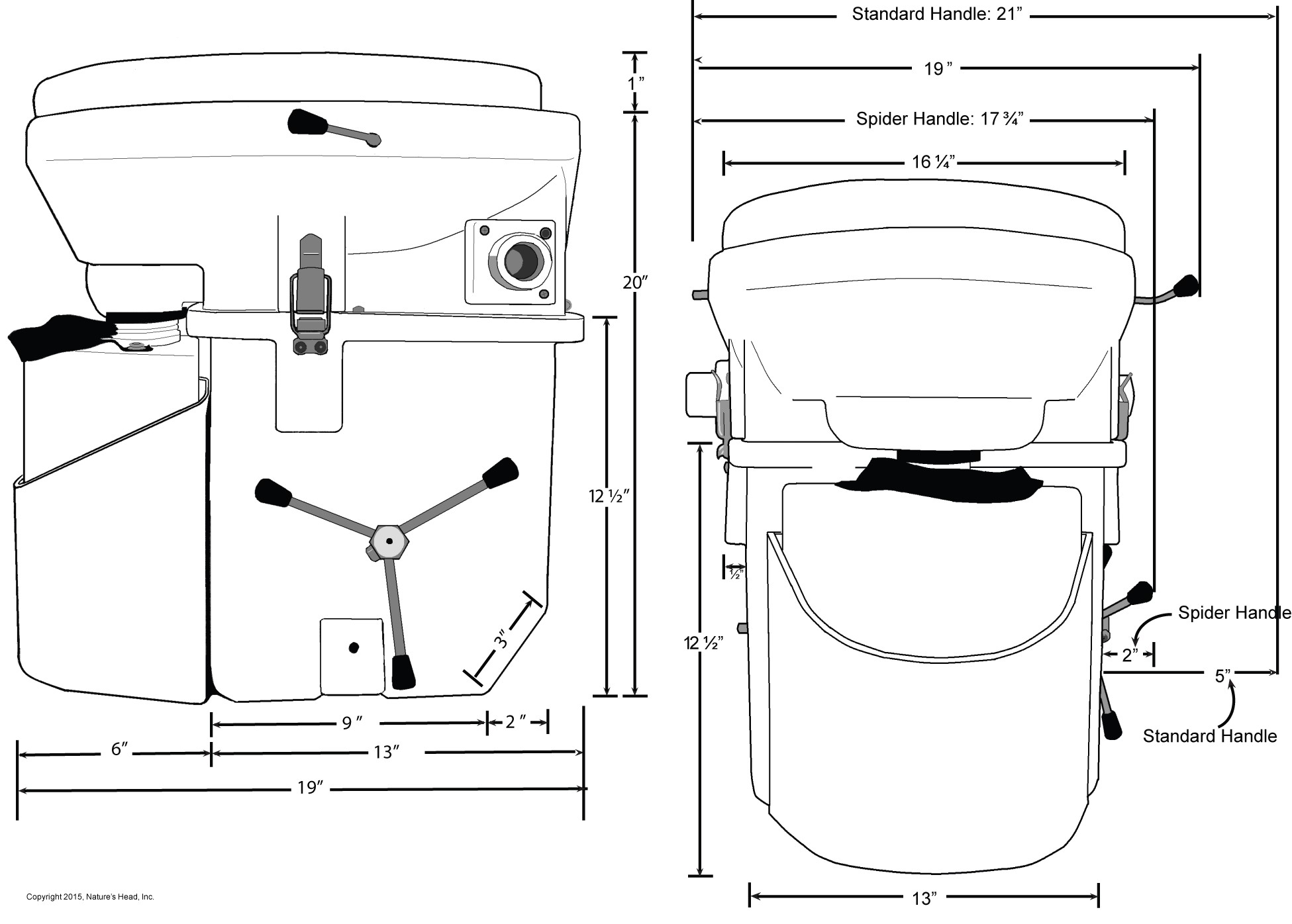 Natures Head Composting Toilets The Official Site Installation Ac Wiring Diagram Bathroom Toilet Dimensions Inches