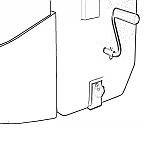 View of L Brackets on Nature's Head Composting Toilet