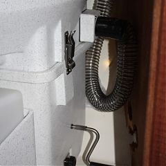 Nature's Head on a DownEaster Yacht, showing hose attachment